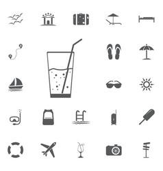 soda icon summer set vector image vector image