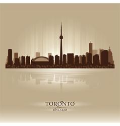 Toronto ontario skyline city silhouette vector