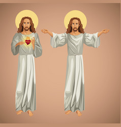 Two image jesus christ christianity vector