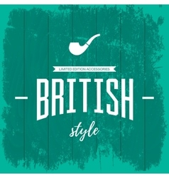 Vintage british style logo concept isolated vector image vector image