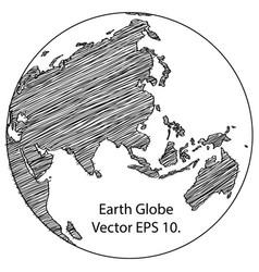 world map earth globe line vector image vector image