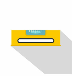 Yellow working tool bubble level icon flat style vector