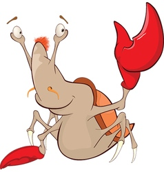 Cute Crab Cartoon Character vector image