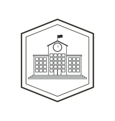 Isolated building of school concept design vector