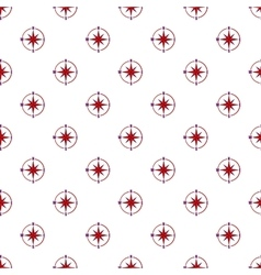 Sign of compass pattern cartoon style vector
