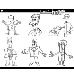 Business set coloring page vector