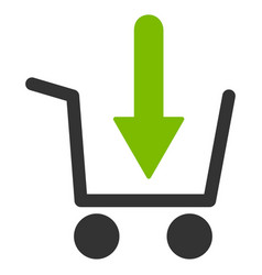 add to basket flat icon vector image