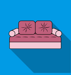 Couch icon in flat style isolated on white vector