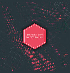 halftone dots design vector image