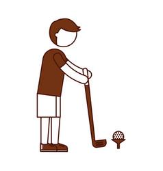 ethlete practicing golf avatar vector image
