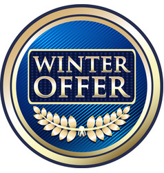 Winter offer icon vector