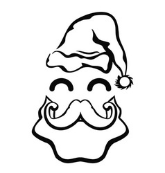 Symbol of santa claus face vector