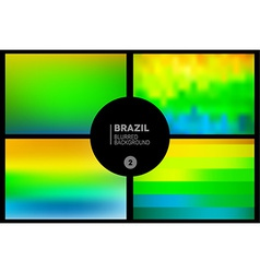 Brazil blurred backgrounds set vector