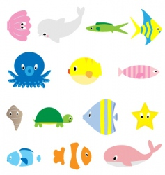 Under water sea life vector