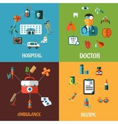 Flat medical concept designs vector