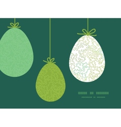 Curly doodle shapes hanging easter eggs vector