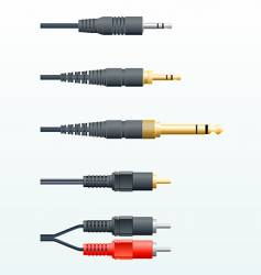 Audio cables vector