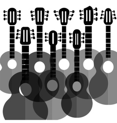 Silhouettes guitars vector