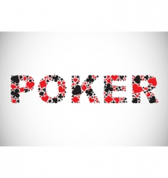 Poker abstract background vector
