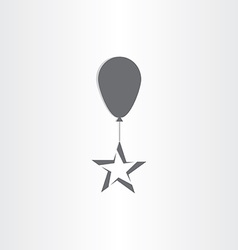 Baloon with star symbol vector