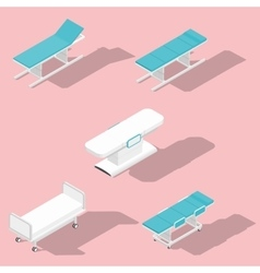 Medical couches operating and massage tables vector