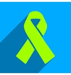 Solidarity ribbon flat square icon with long vector