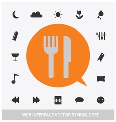 Abstract web interface symbols set vector