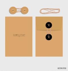 Brown envelopes vector