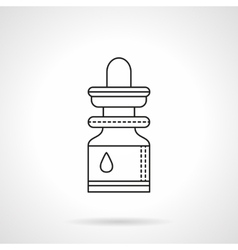 Essential oil flat line icon vector
