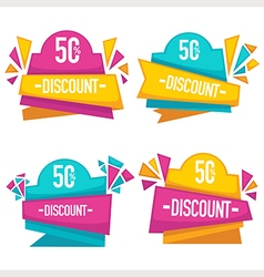 bright discount vector image