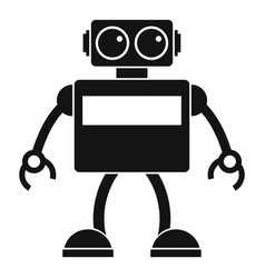 Android robot icon simple style vector