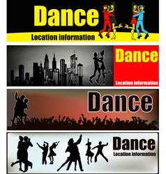 ballroom dance banners vector image vector image