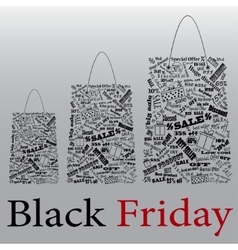 Black friday the night of discounts bag vector