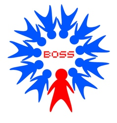 boss symbol vector image vector image