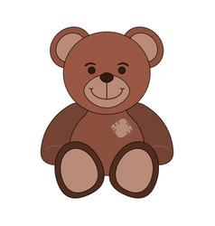 cute teddy cartoon vector image