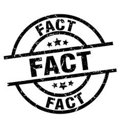Fact round grunge black stamp vector
