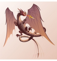 flying dragon vector image vector image
