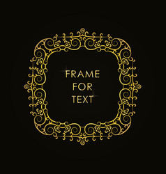 frame in outline style on black background vector image