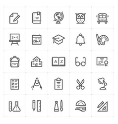 icon set - school and education vector image