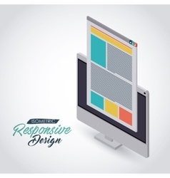 Isometric responsive icon design vector
