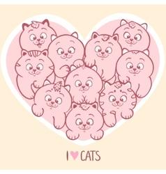Love cats vector