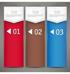 Modern colorful numbered banners vector image vector image