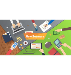 New business or start up concept with office vector