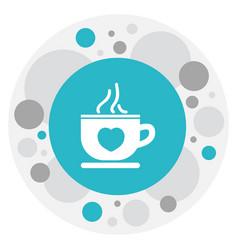 of heart symbol on tea mug vector image