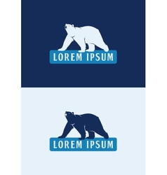 Polar bear logo template vector
