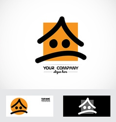 Real estate cartoon logo vector image