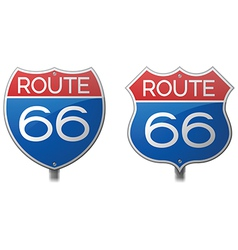 Route 66 signs vector