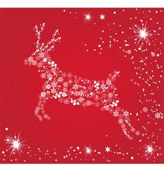 Snow deer vector