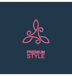 Stylish and graceful floral monogram design vector image