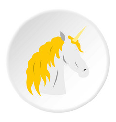 Unicorn icon circle vector